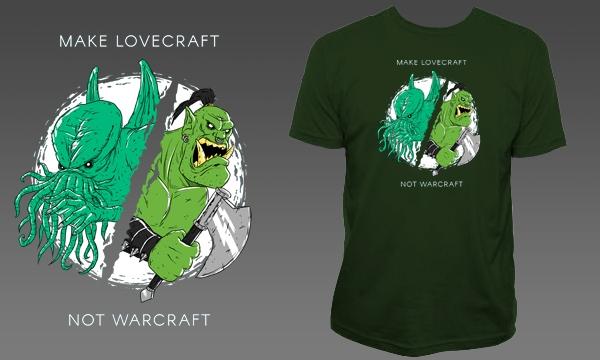 Detail návrhu Make Lovecraft, not Warcraft