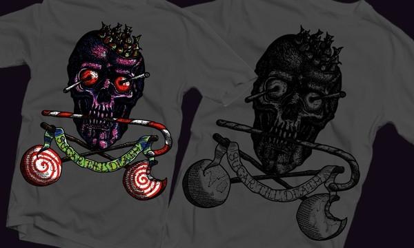Detail návrhu Candy Skull