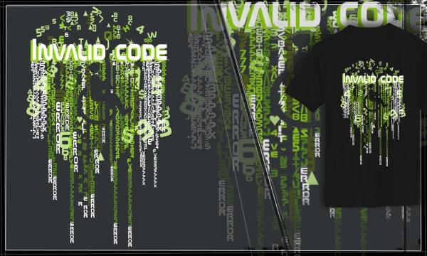 Detail návrhu Invalid Code