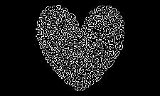 Ameba tričko bílé srdce