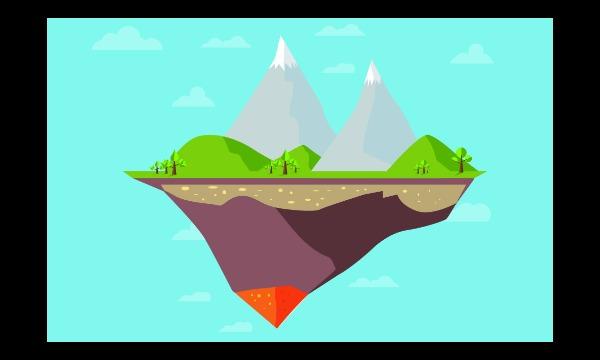 Detail návrhu Flying Island