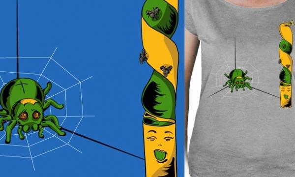 Detail návrhu Pavouk a mucholapka
