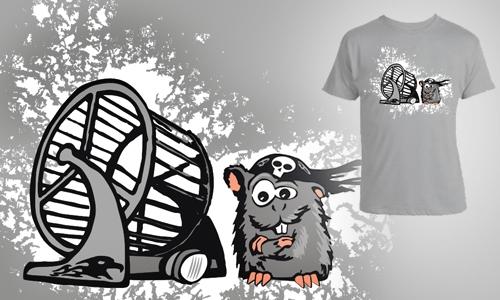 Detail návrhu Hamster Motorbiker