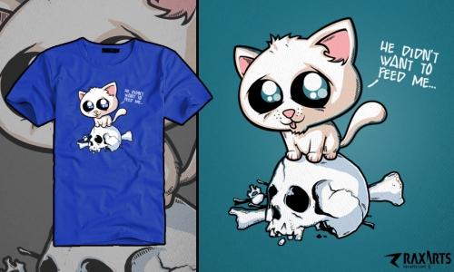 Detail návrhu Hladová kočička