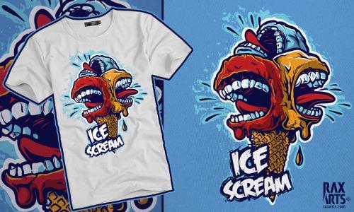 Detail návrhu Ice Scream