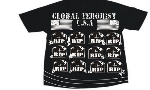 Detail návrhu Glabal terrorist U.S.A