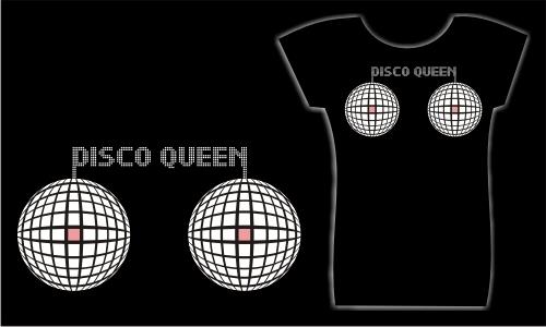 Detail návrhu Disco QUEEN