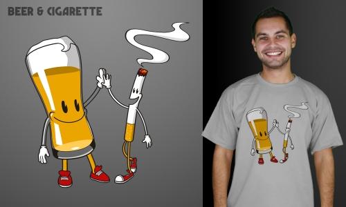 Detail návrhu Beer Cigarette