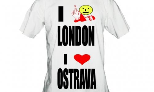 Detail návrhu I fuxk LONDON I love OSTRAVA