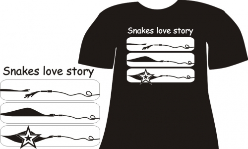 Detail návrhu Snakes love story