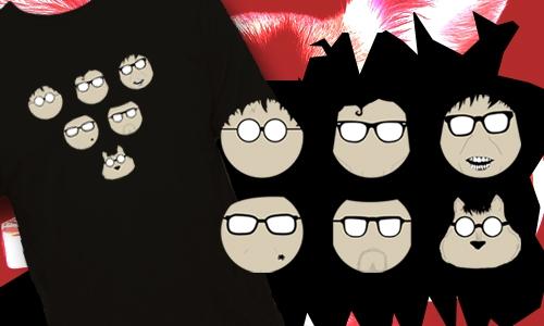Detail návrhu Glasses charakters
