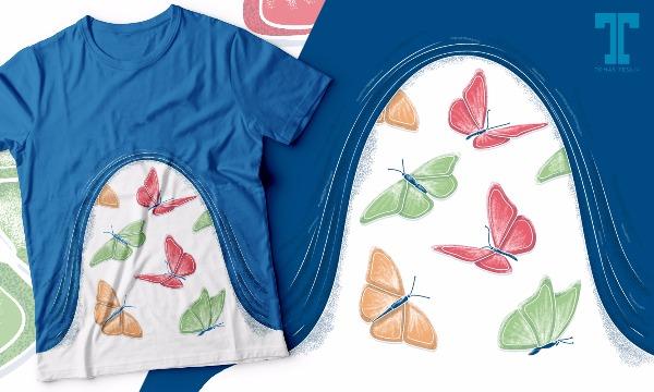 Detail návrhu Motýli v břiše