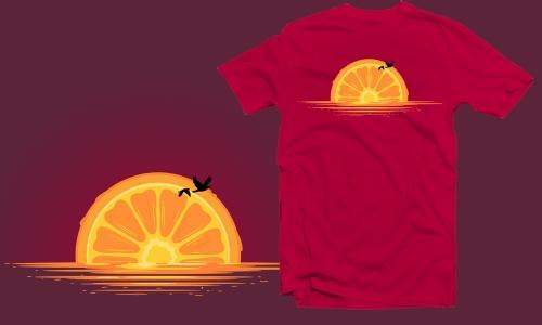 Detail návrhu západ pomeranče