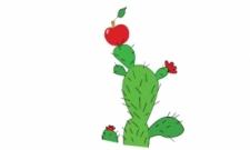 kaktus a jablko