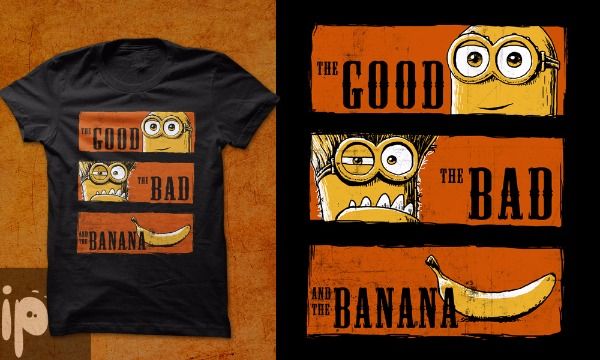 Detail návrhu Hodný, zlý a banán