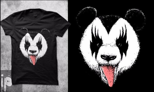 Detail návrhu Kiss panda