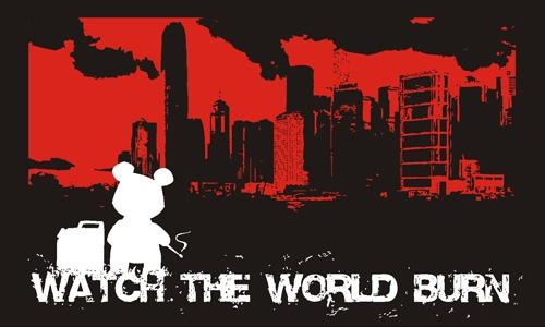 Detail návrhu Watch the World Burn