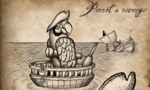 Detail návrhu Papouškova pomsta