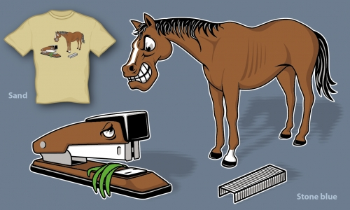 Detail návrhu Koník versus kůň