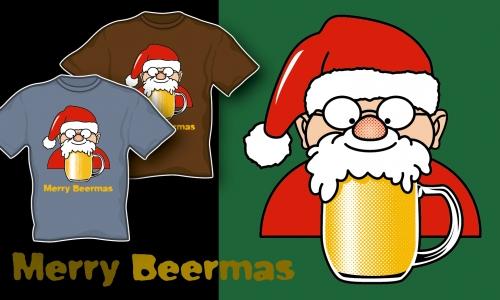 Detail návrhu Merry Beermas