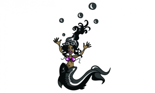 Detail návrhu mořská panna existuje2
