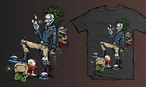 Detail návrhu Evil Clown