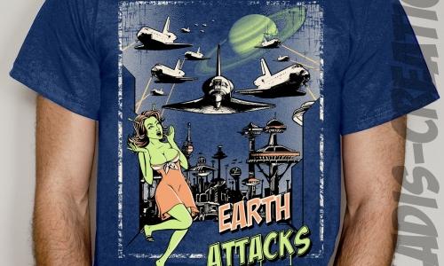 Detail návrhu Země útočí