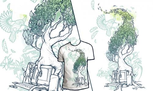 Detail návrhu Nature vs. Technology