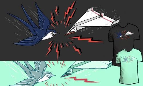 Detail návrhu Souboj vlaštovek