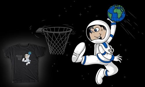 Detail návrhu Vesmírný basket