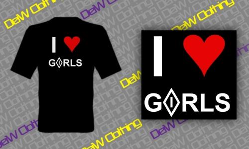 Detail návrhu I love GIRLS