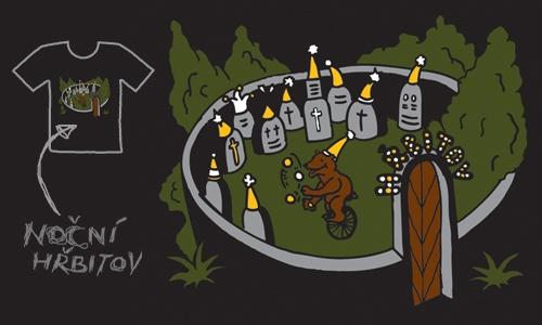 Detail návrhu Noční hřbitov