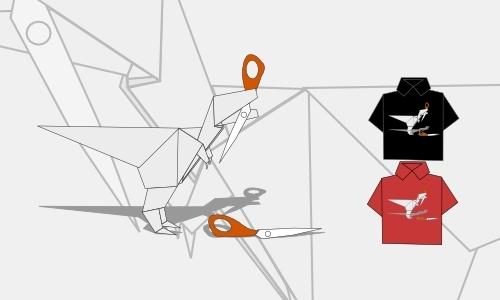 Detail návrhu Origami FINAL se stíny