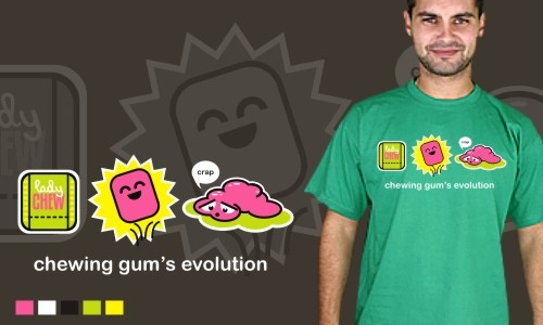 Detail návrhu Chewing gum's evolution