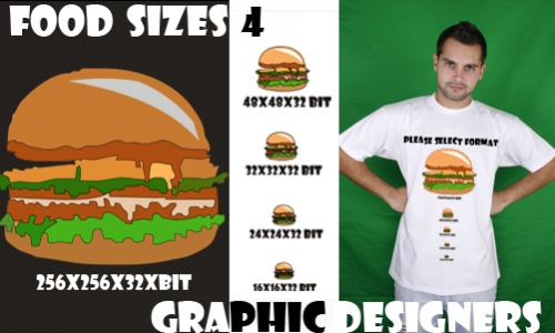 Detail návrhu Food Size 4 Graphic Designers