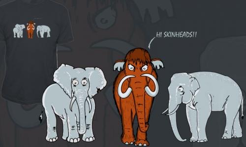 Detail návrhu Mamut a sloni