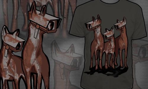 Detail návrhu Objekt střežen psy!