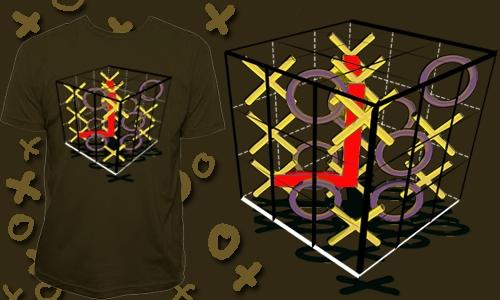 Detail návrhu Rubikovy 3D piškvorky