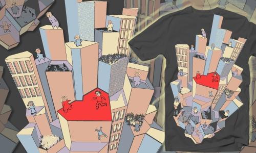 Detail návrhu Tikající srdce města