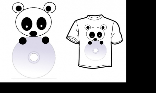 Detail návrhu Panda na CD