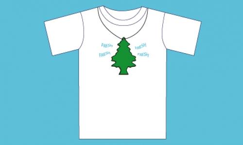 Detail návrhu fresh - voňavý stromeček