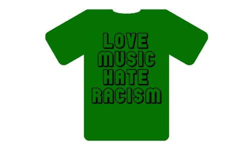 Detail návrhu LOVE music HATE racism