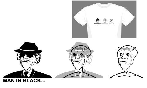 Detail návrhu MAN IN BLACK...