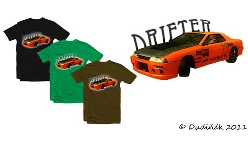 Detail návrhu Drifter