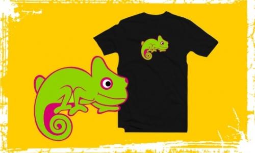 Detail návrhu Buď jako chameleon