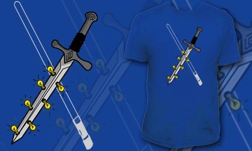 Detail návrhu Světelný meč