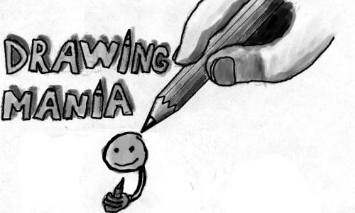 Detail návrhu kreslící mánie