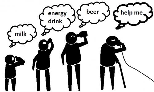 Detail návrhu pití