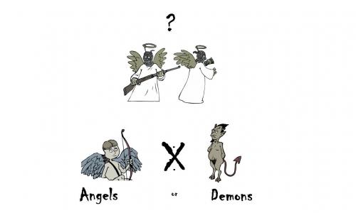 Detail návrhu Andělé nebo Démoni?