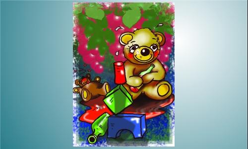 Detail návrhu medvídek